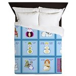Snow Folks 5x7 Queen Duvet