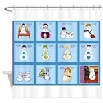 Snow Folks 5x7 Shower Curtain