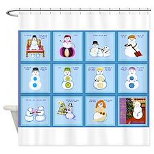 Snow Folks 5x7 Shower Curtain