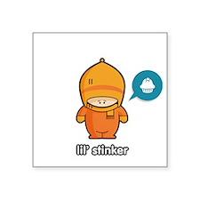 "Stinker ORA Square Sticker 3"" x 3"""