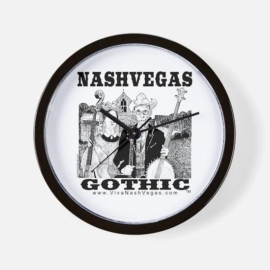NASHVEGAS GOTHIC TM Wall Clock