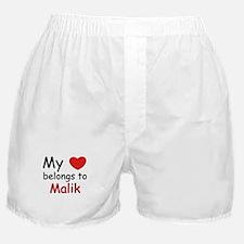 My heart belongs to malik Boxer Shorts
