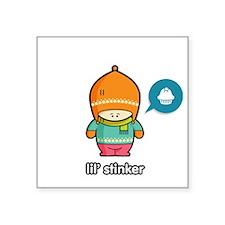 "Stinker ORA-PNK Square Sticker 3"" x 3"""