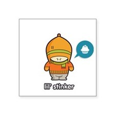 "Stinker ORA-TAN Square Sticker 3"" x 3"""