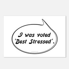 Best Stressed Postcards (Package of 8)