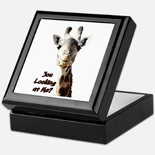 You Looking at Me? giraffe Keepsake Box