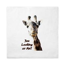 You Looking at Me? giraffe Queen Duvet