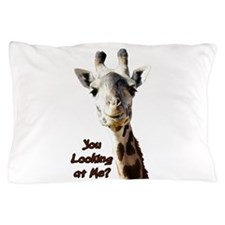 You Looking at Me? giraffe Pillow Case