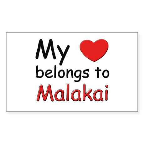 My heart belongs to malakai Rectangle Sticker