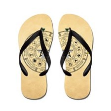 Wheel of the Year Zodiac Sabats Flip Flops