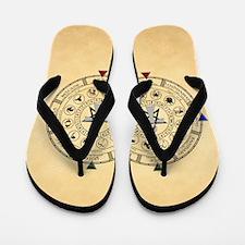 Wheel of the Year Zodiac Sabats Flip Flops