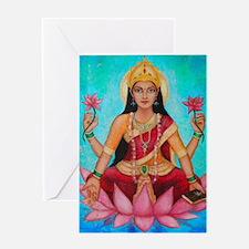 Lakshmi original art Greeting Card