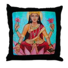 Lakshmi original art Throw Pillow