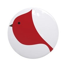 Winter Red Cardinal  Round Ornament
