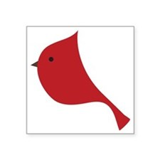 """Winter Red Cardinal  Square Sticker 3"""" x 3"""""""