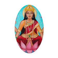 Lakshmi original art Oval Car Magnet