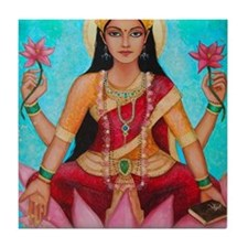 Lakshmi original art Tile Coaster