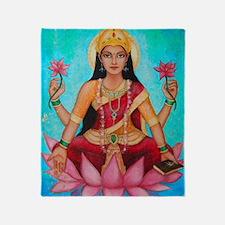 Lakshmi original art Throw Blanket