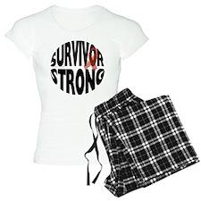 Survivor strong button Pajamas