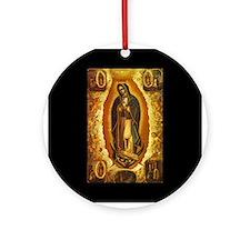 Virgen de Guadalupe Ornament (Round)