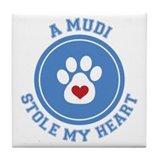 Mudi/My Heart Tile Coaster