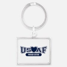Air Force Sister Landscape Keychain