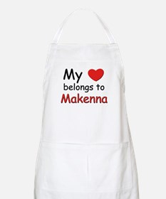My heart belongs to makenna BBQ Apron