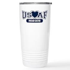 Air Force Sister Stainless Steel Travel Mug