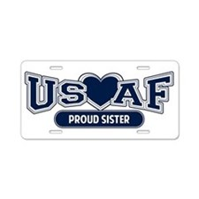 Air Force Sister Aluminum License Plate
