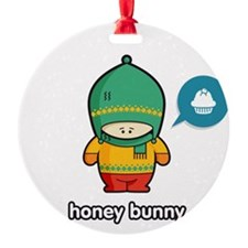 Honey Bunny GRN-RED Ornament