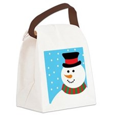 Frosty the SnowMan Canvas Lunch Bag