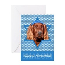 Hanukkah Star of David - Setter Greeting Card