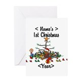 Babys 1st christmas Greeting Cards