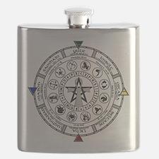 Wheel of the Year Zodiac Sabats Flask