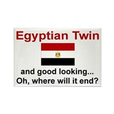 Egyptian Twins-Good Lkg Rectangle Magnet
