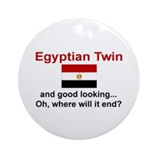 Egyptian Twins-Good Lkg Keepsake Ornament