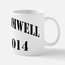 cromwell black letters Mug