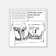 "duofac_strip_bigbutts Square Sticker 3"" x 3"""