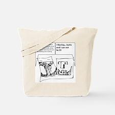 duofac_strip_bigbutts Tote Bag
