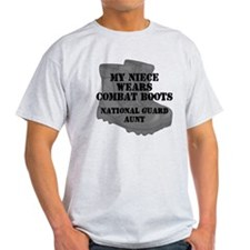 National Guard Aunt Niece Combat Boots T-Shirt