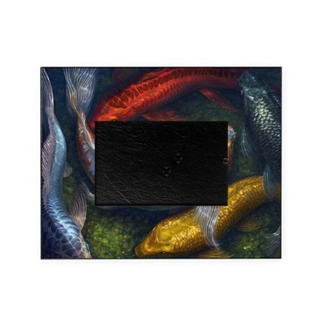Rainbow koi pond picture frame by ruykia for Rainbow koi fish