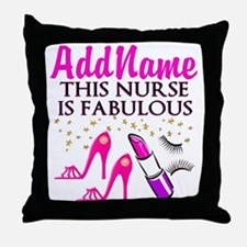 FABULOUS NURSE Throw Pillow