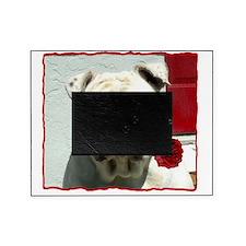 Romantic bulldog Picture Frame