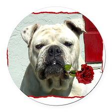 Romantic bulldog Round Car Magnet