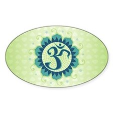 Lotus Aum Blue/Green - Oval Decal