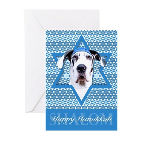Hanukkah Star of David - Dane Greeting Cards (Pk o