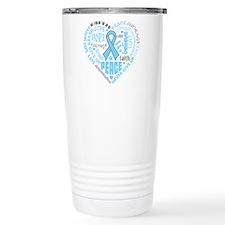 Prostate Cancer Heart Words Travel Mug