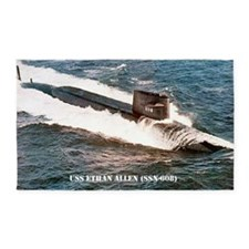 e allen ssn large poster 3'x5' Area Rug