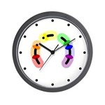 Gay Morse Arc Wall Clock