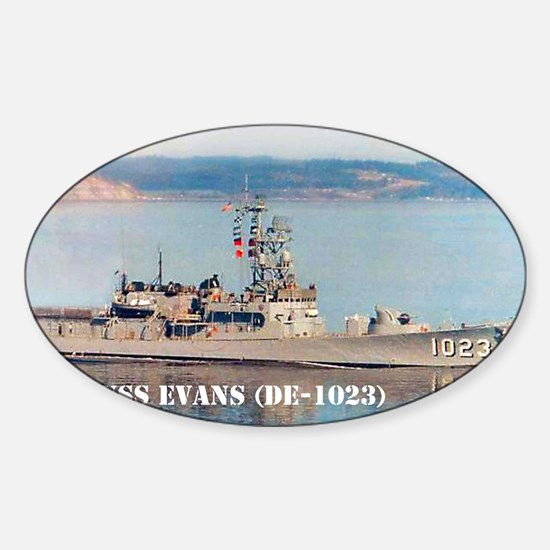 evans greeting card Sticker (Oval)